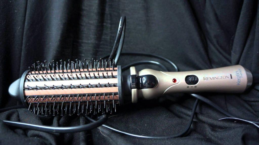 test et avis brosse chauffante remington cb65a45 keratin therapy