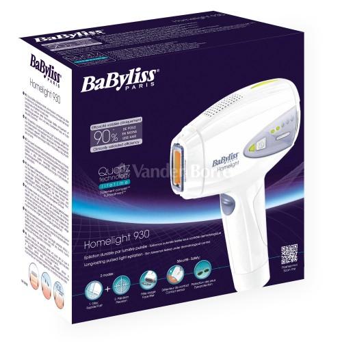 Babyliss G930E avis epilateur lumiere pulsee