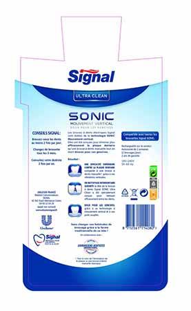 brosse à dents électrique signal sonic pro clean test